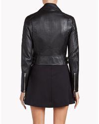 DSquared² | Black Leather Biker Jacket | Lyst