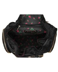 Betsey Johnson - Black Velvet Backpack - Lyst