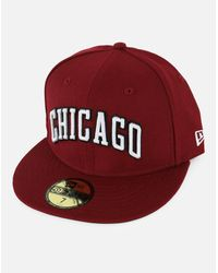 KTZ - Red 5950 Nba Chicago Bulls Fitted Hat for Men - Lyst