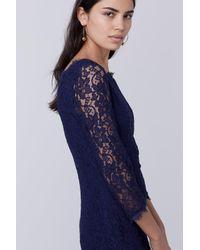 Diane von Furstenberg - Blue Zarita Long Lace Dress - Lyst