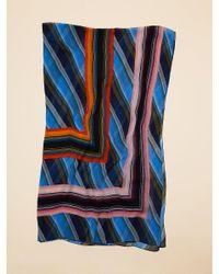 Diane von Furstenberg - Blue Sussex Stripe Scarf - Lyst