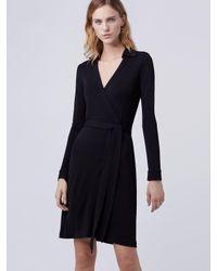 Diane von Furstenberg - Black Jeanne Jersey Wrap Dress - Lyst