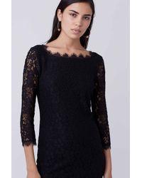 Diane von Furstenberg - Black Zarita Lace Dress - Lyst
