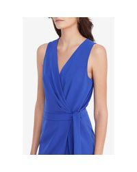 Diane von Furstenberg - Blue Dvf Cordia Sleeveless Crepe Jumpsuit - Lyst