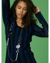 Diane von Furstenberg - Metallic Long Ring Necklace - Lyst