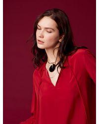Diane von Furstenberg | Gold Wire Black Charm Necklace | Lyst