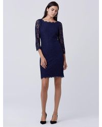 Diane von Furstenberg | Blue Zarita Long Lace Dress | Lyst