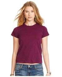Polo Ralph Lauren | Purple Crew-neck T-shirt | Lyst