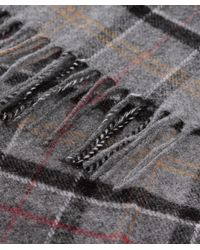 Barbour | Gray Classic Tartan Lambswool Scarf for Men | Lyst