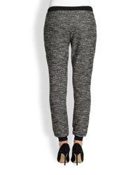 Eileen Fisher - Black Tweed Knit Drawstring Pants - Lyst