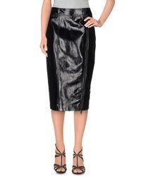 Burberry - Black 3/4 Length Skirt - Lyst