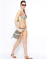 Maaji | Multicolor Her Majesty Cut Out Bikini Top With Soft Cups | Lyst