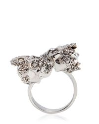 Alexander McQueen | Metallic Queen & King Skulls Ring | Lyst