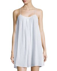 Skin | White Pleated Gauze Slip | Lyst