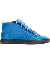 28eb8cd469e96 Balenciaga Arena High-Top Sneakers in Blue for Men - Lyst