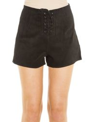 AG Jeans - Black Lace Up Shorts - Lyst