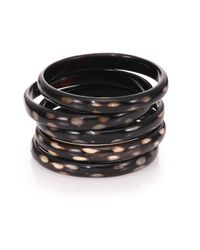 Nest | Black Spotted Horn Five-bangle Bracelet Set | Lyst