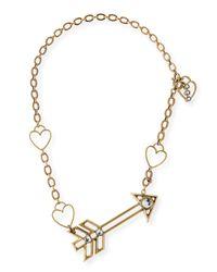 Lanvin | Metallic Arrow Short Pendant Necklace | Lyst