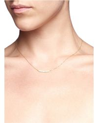 Ila & I - Metallic 'araya' Diamond Necklace - Lyst