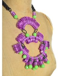 Kirsty Ward - Purple Lavender & Green Statement Necklace - Lyst