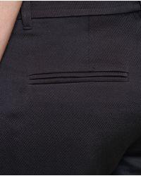 Ann Demeulemeester - Black Textured Trousers - Lyst