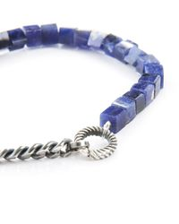Gilbert Gilbert | Hen 20 Blue Sodalite Stones And Silver Bracelet for Men | Lyst