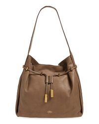 Vince Camuto | Brown 'arora' Drawstring Hobo Bag | Lyst