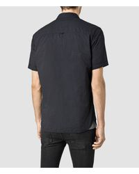 AllSaints | Black Deaux Short Sleeved Shirt for Men | Lyst