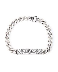 DSquared² | Metallic Logo Bracelet for Men | Lyst