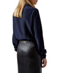 Aquascutum - Blue Adlington Silk Blouse - Lyst