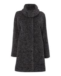 Max Mara | Gray Gregory Alpacca Funnel Neck Coat | Lyst