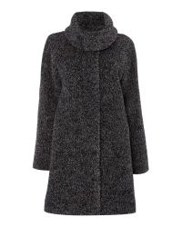 Max Mara - Gray Gregory Alpacca Funnel Neck Coat - Lyst
