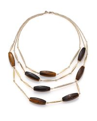 Alexis Bittar | Metallic Miss Havisham Jagged Tiger's Eye & Crystal Spear Multi-strand Necklace | Lyst
