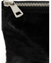 Juun.J - Black Calf-Hair Zip Pouch for Men - Lyst