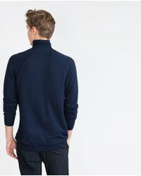 Zara | Blue High Neck Sweater for Men | Lyst