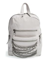Ash | Gray 'small Domino' Chain Leather Backpack | Lyst