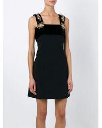 Fausto Puglisi - Black Embellished Strap Mini Dress - Lyst