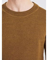 TOPMAN - Selected Homme Brown Sweater for Men - Lyst