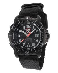Luminox - Men's Anu 4200 Series Black Nylon Black Dial for Men - Lyst