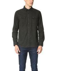 RVCA | Black Gravel Pit Long Sleeve Woven Shirt for Men | Lyst