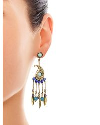 Etro - Blue Paisley Stone-embellished Earrings - Lyst