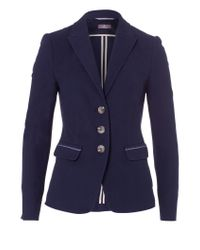 Basler | Blue Blazer With Piqué-structure | Lyst