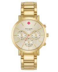 kate spade new york - Metallic Ladies Gramercy Grand Gold-Tone Chronograph Watch - Lyst