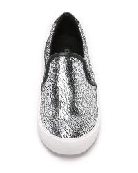 DKNY - Metallic Bess Slip On Sneakers - Lyst