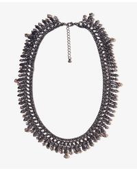 Forever 21 | Gray Beaded Chain Necklace | Lyst