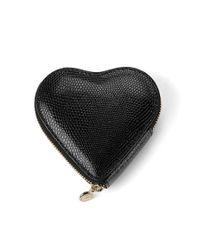 Aspinal - Black Heart Coin Purse - Lyst