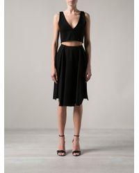 Palmer//Harding | Black Bonded Wool Skirt | Lyst