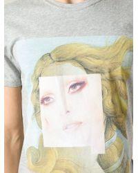 Les Benjamins - Gray Photo Print T-Shirt for Men - Lyst