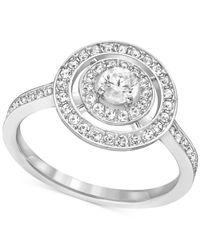 Swarovski - Metallic Crystal Circle Ring - Lyst