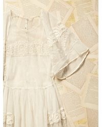 Free People - White Womens Vintage Victorian Lace Dress - Lyst
